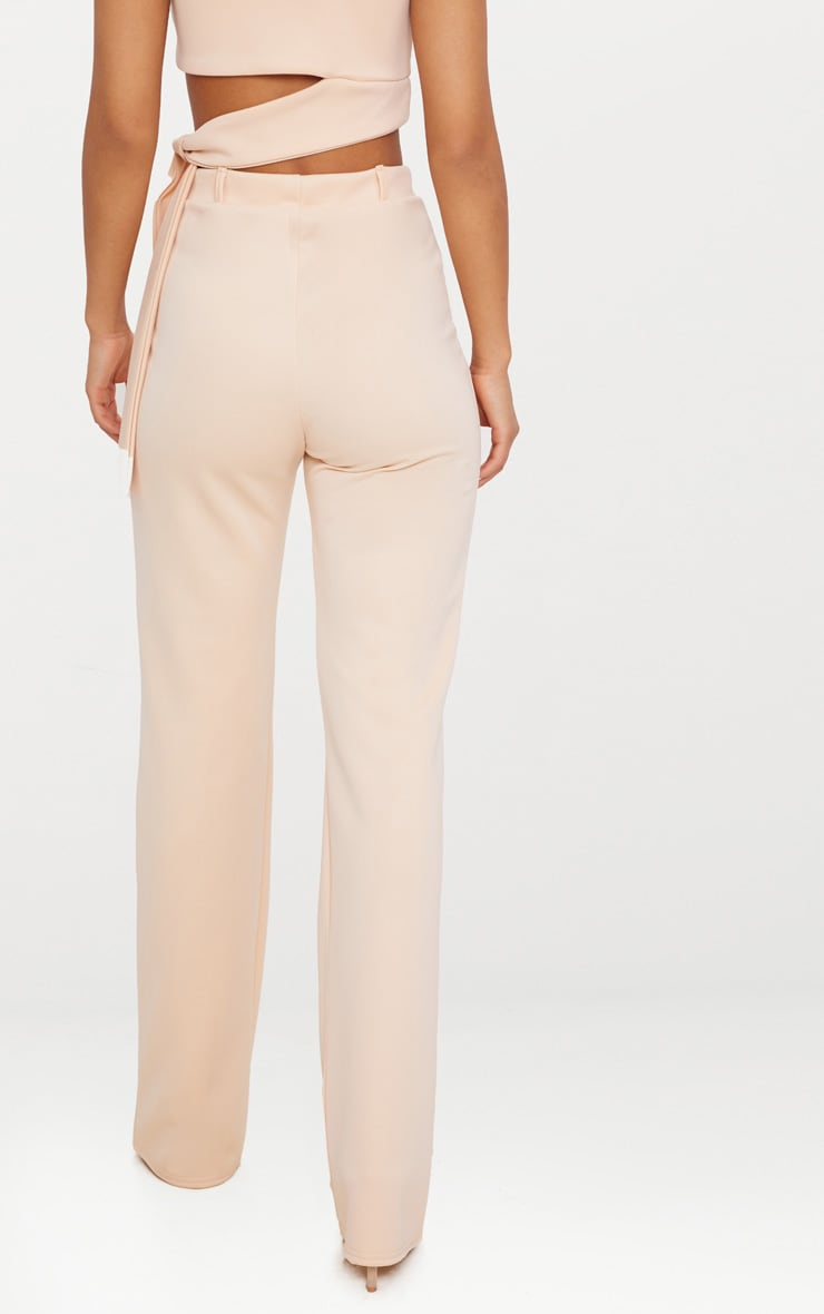 Blush High Waist Straight Trousers 3
