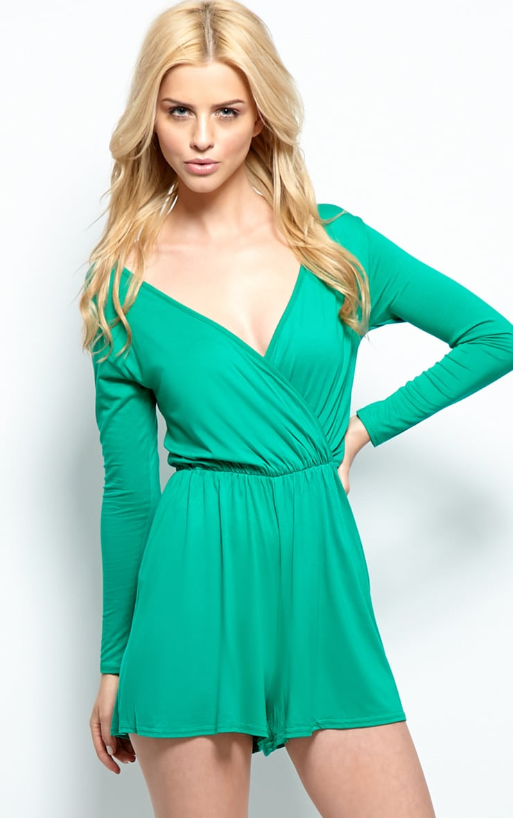 Maddison Green Wrap Over Playsuit  1