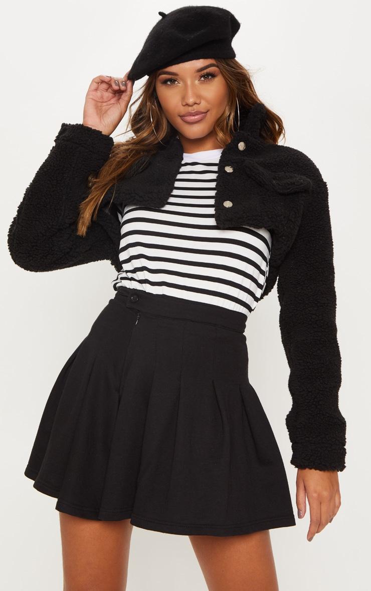 Black Sweat Tennis Skirt 1