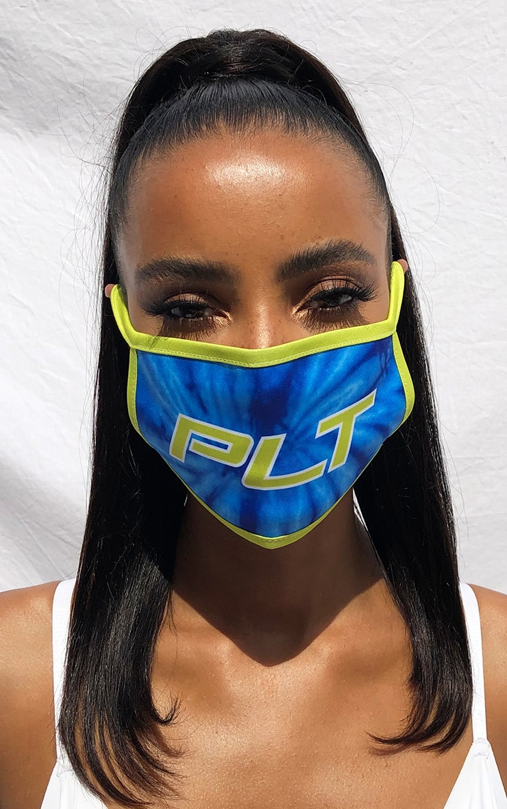 PLT Blue Contrast Fashion Mask 1