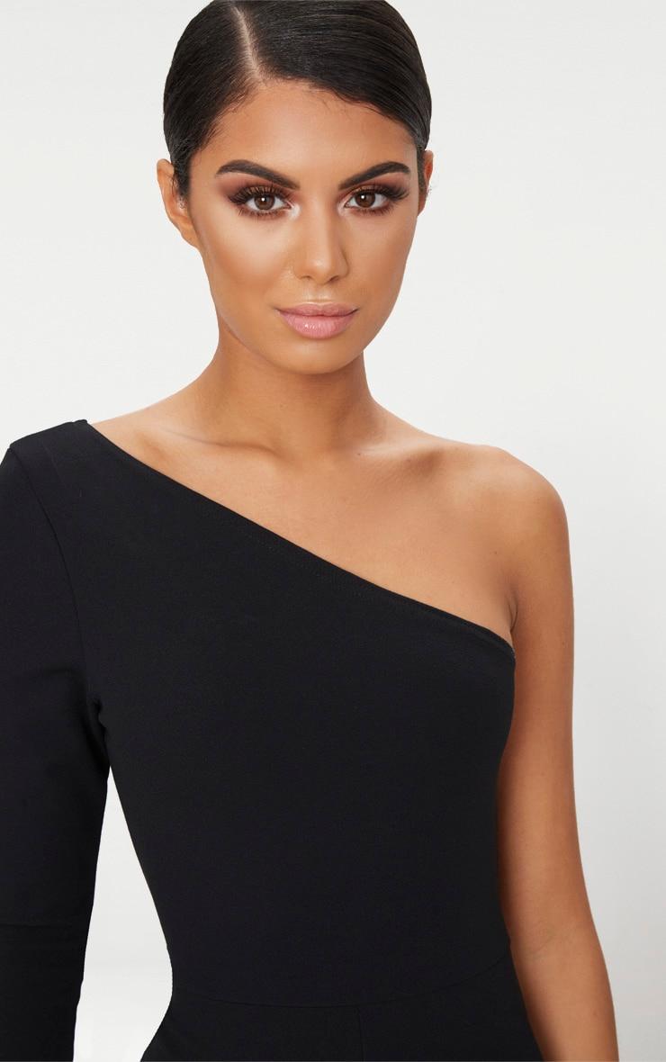 Black Long Sleeve One Shoulder Jumpsuit 5