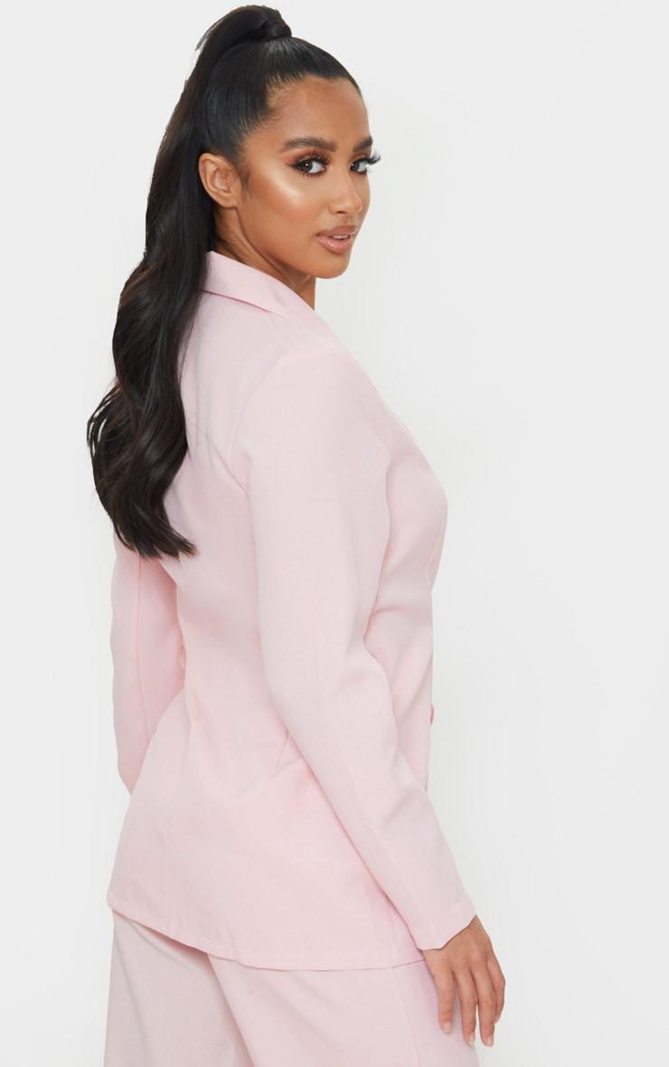 Petite Dusty Pink Oversized Suit Blazer 2