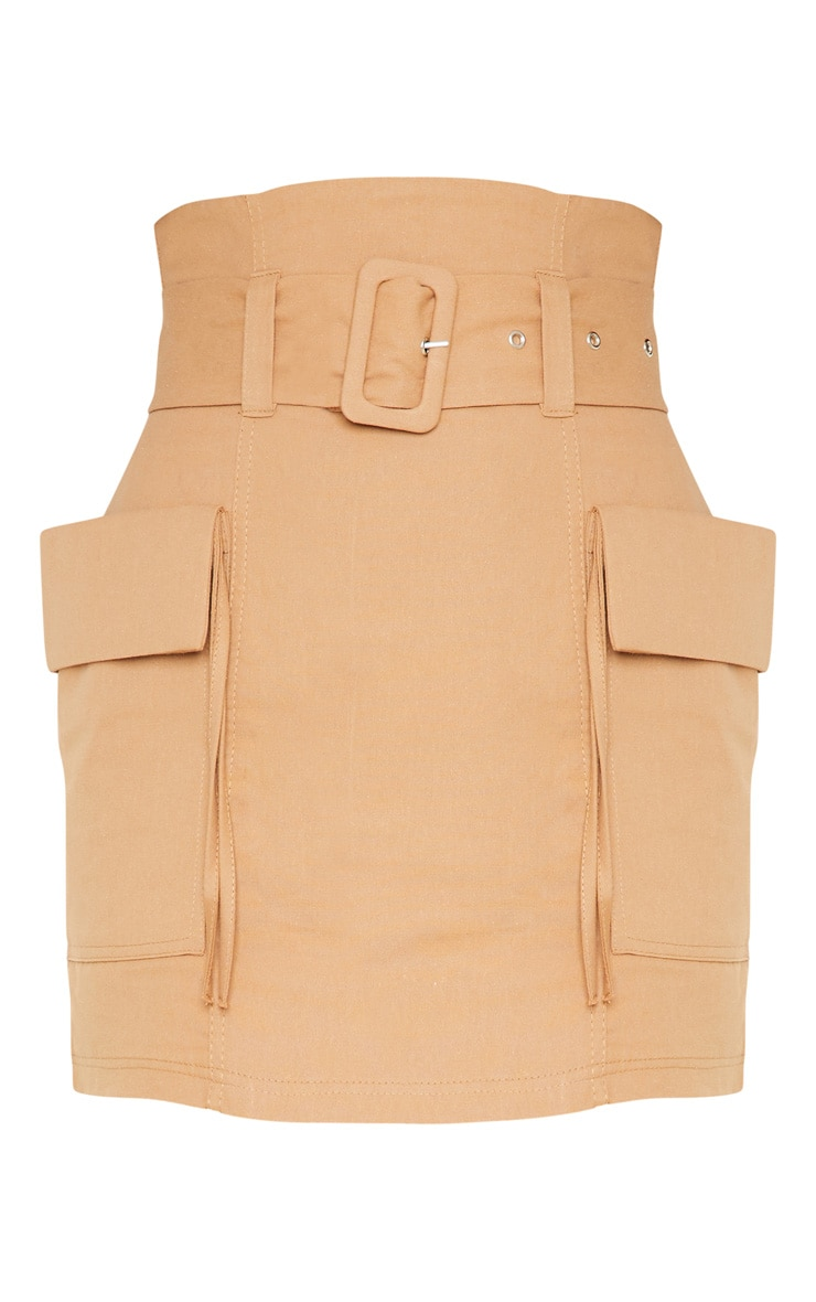 Stone Belted Pocket Detail Cargo Mini Skirt  3