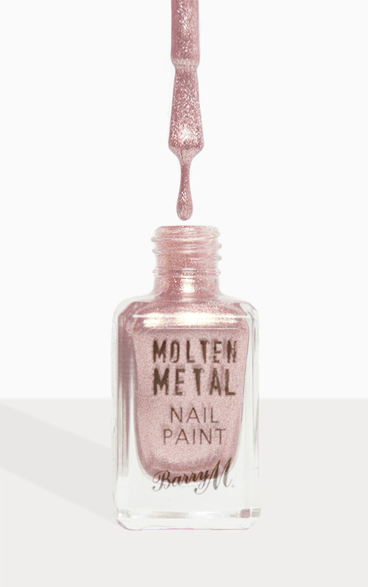 Barry M Molten Metal Pink Ice Nail Paint 1