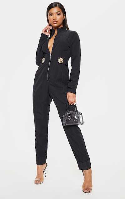 65db06f9e4ca Long Sleeve Jumpsuits | Jumpsuits With Sleeves | PrettyLittleThing