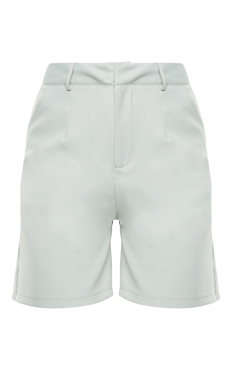 Soft Mint Woven Tailored Shorts 6