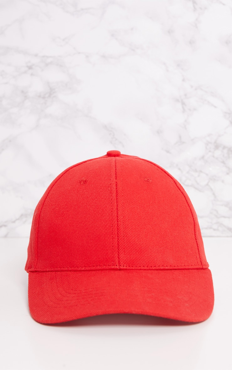 Red Baseball Cap 3