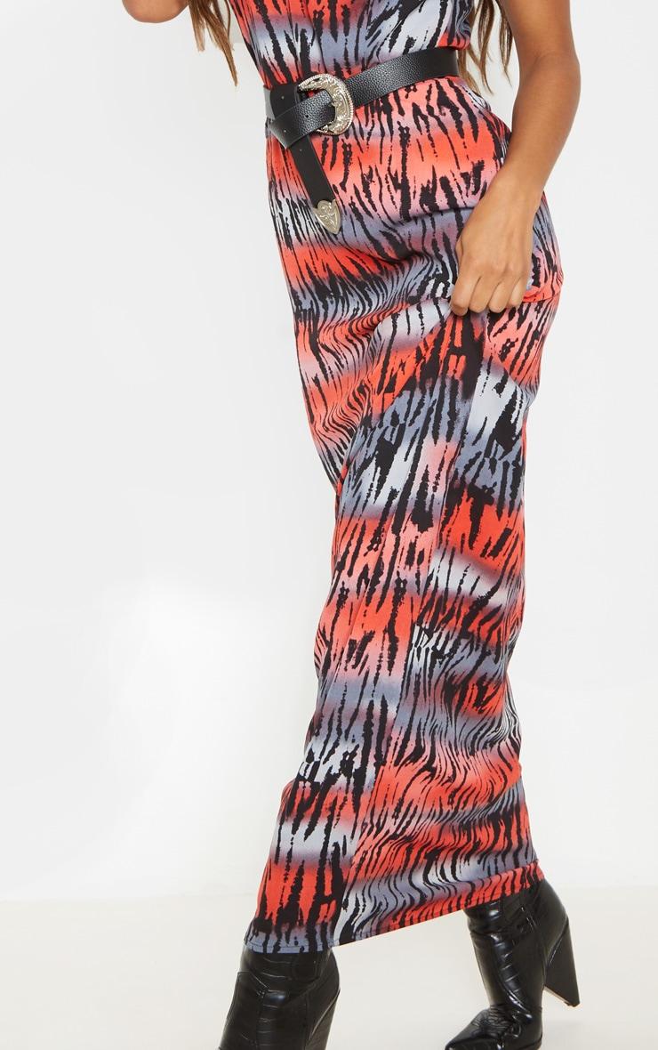 Multi Tiger Maxi Dress 5