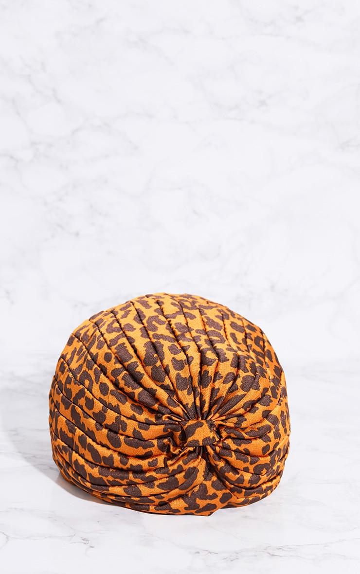 Leopard Print Knotted Turban 3
