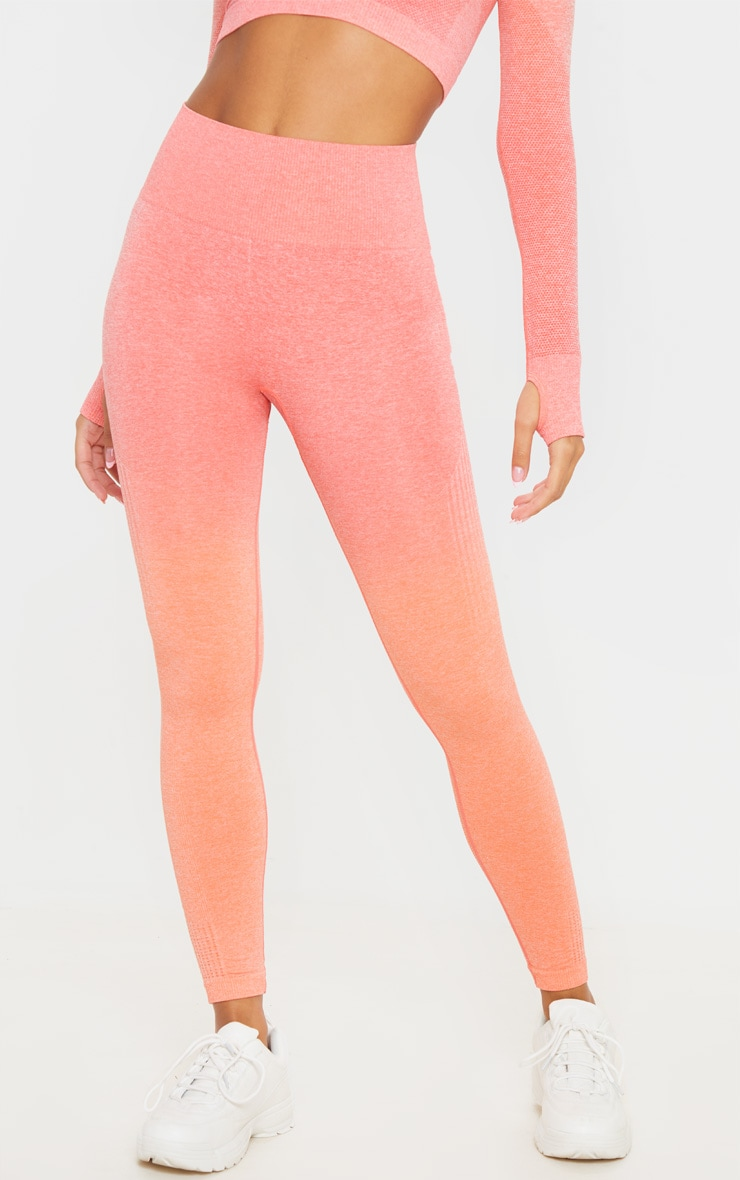 Coral Ombre High Waist Sports Seamless Legging 2