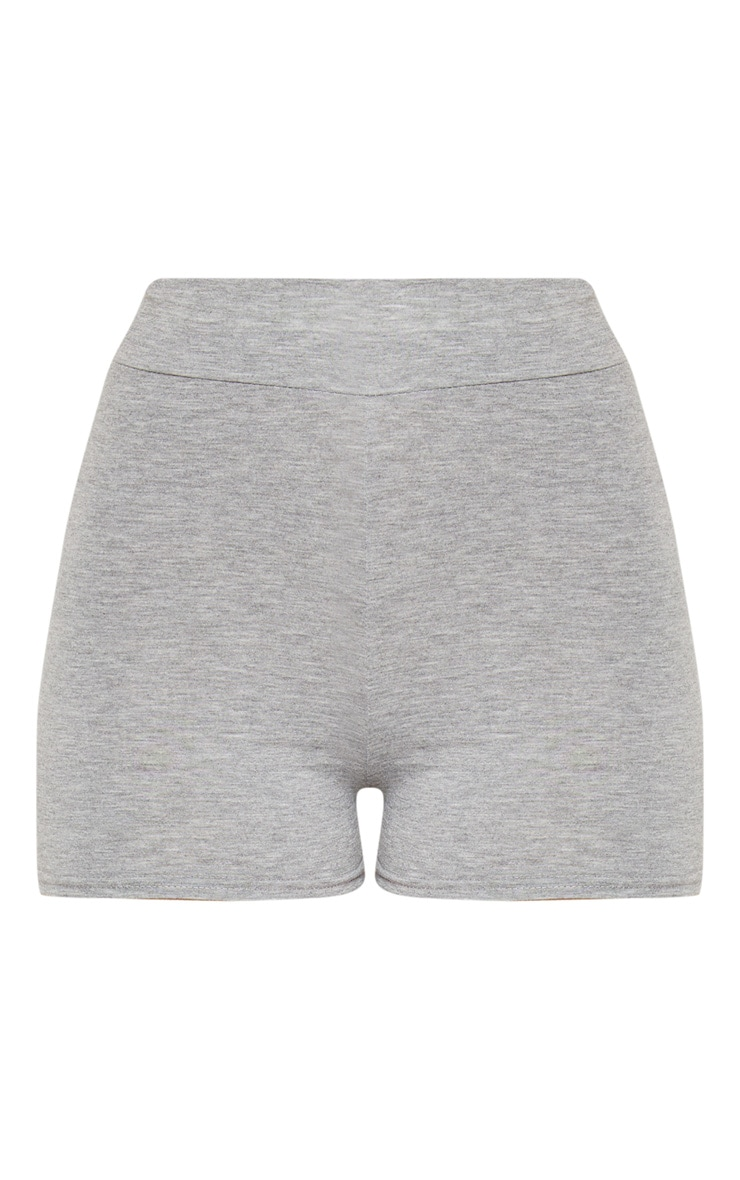 Basic Grey High Waisted Shorts 3