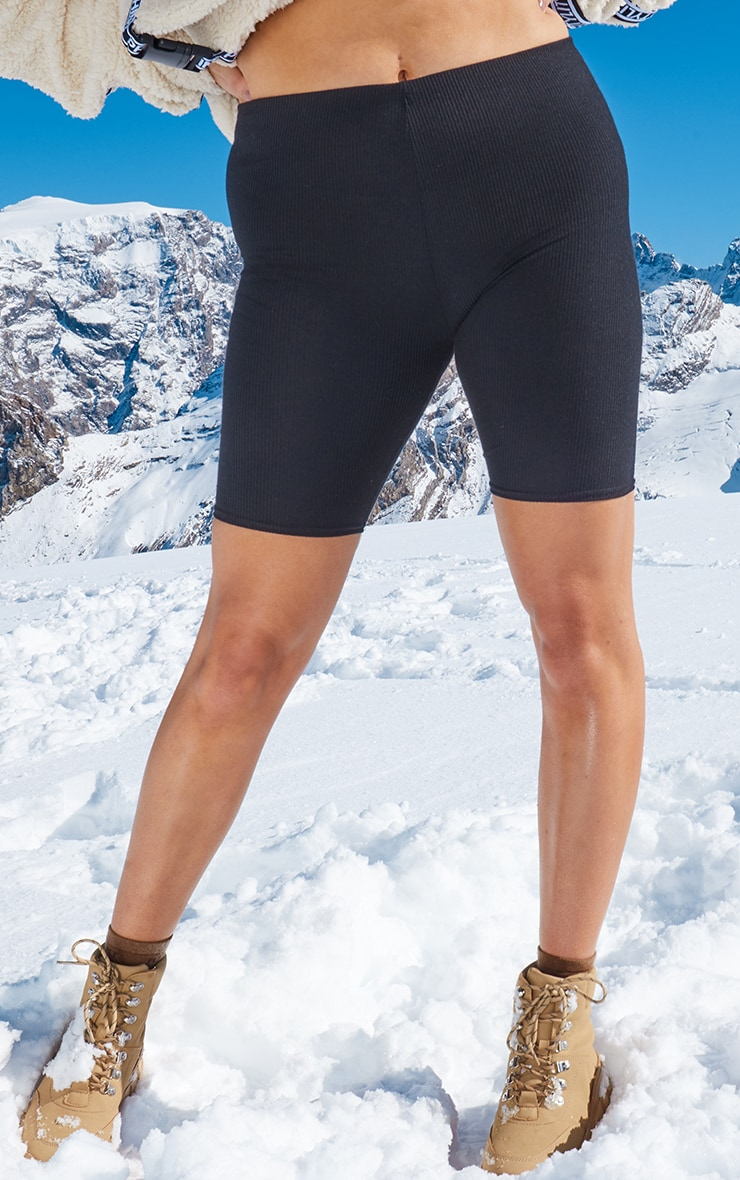Plus Black Basic Cycle Shorts 2