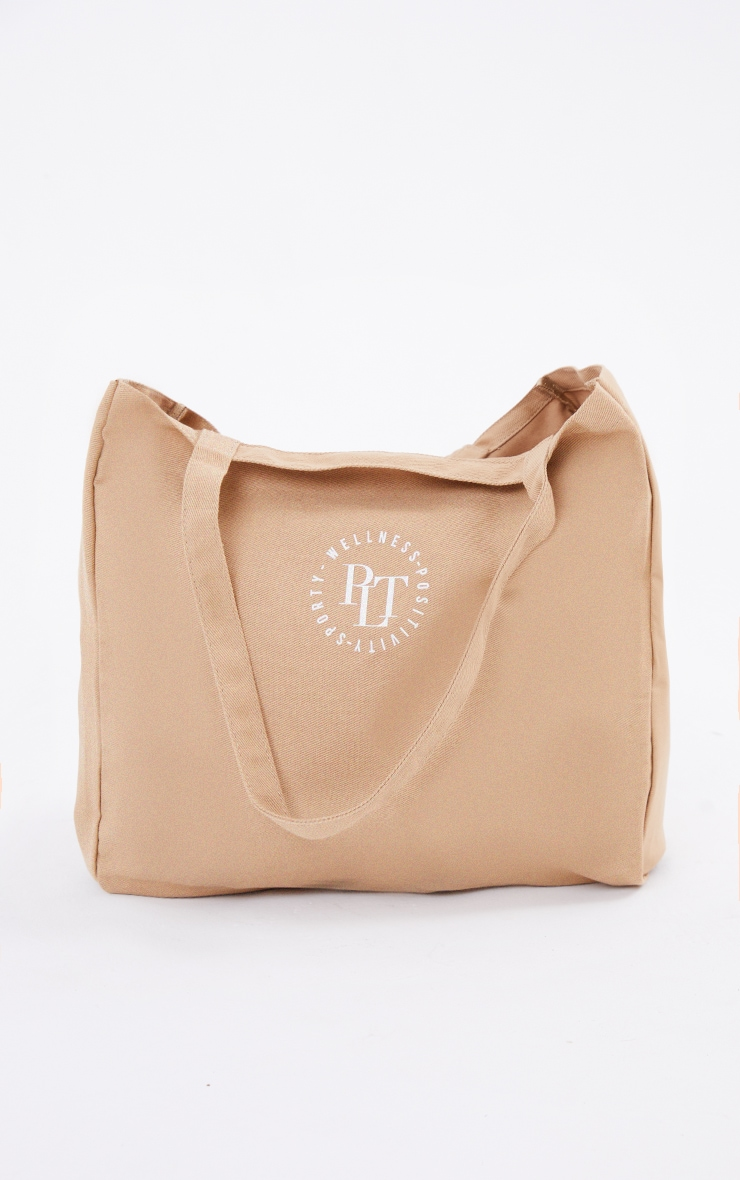 PRETTYLITTLETHING Tan Round Wellness Tote Bag 2