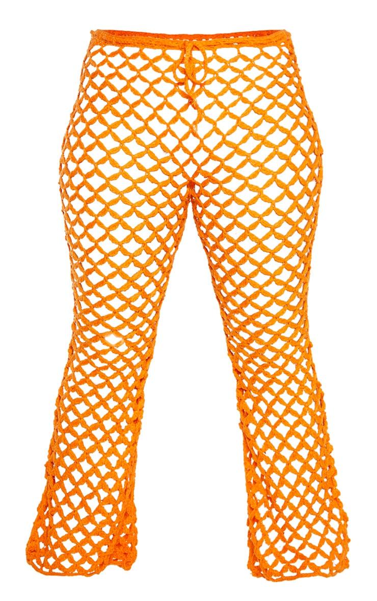 Plus Orange Crochet Flares 3