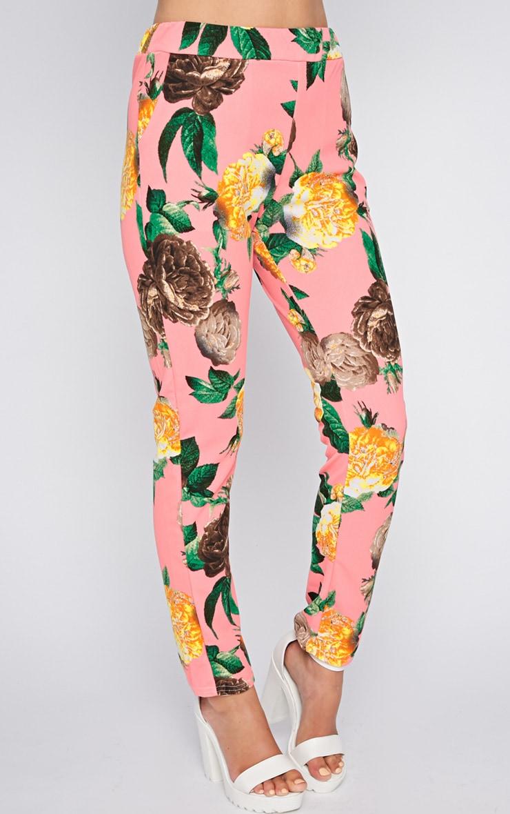 Kiera Pink Floral Print Trouser  3