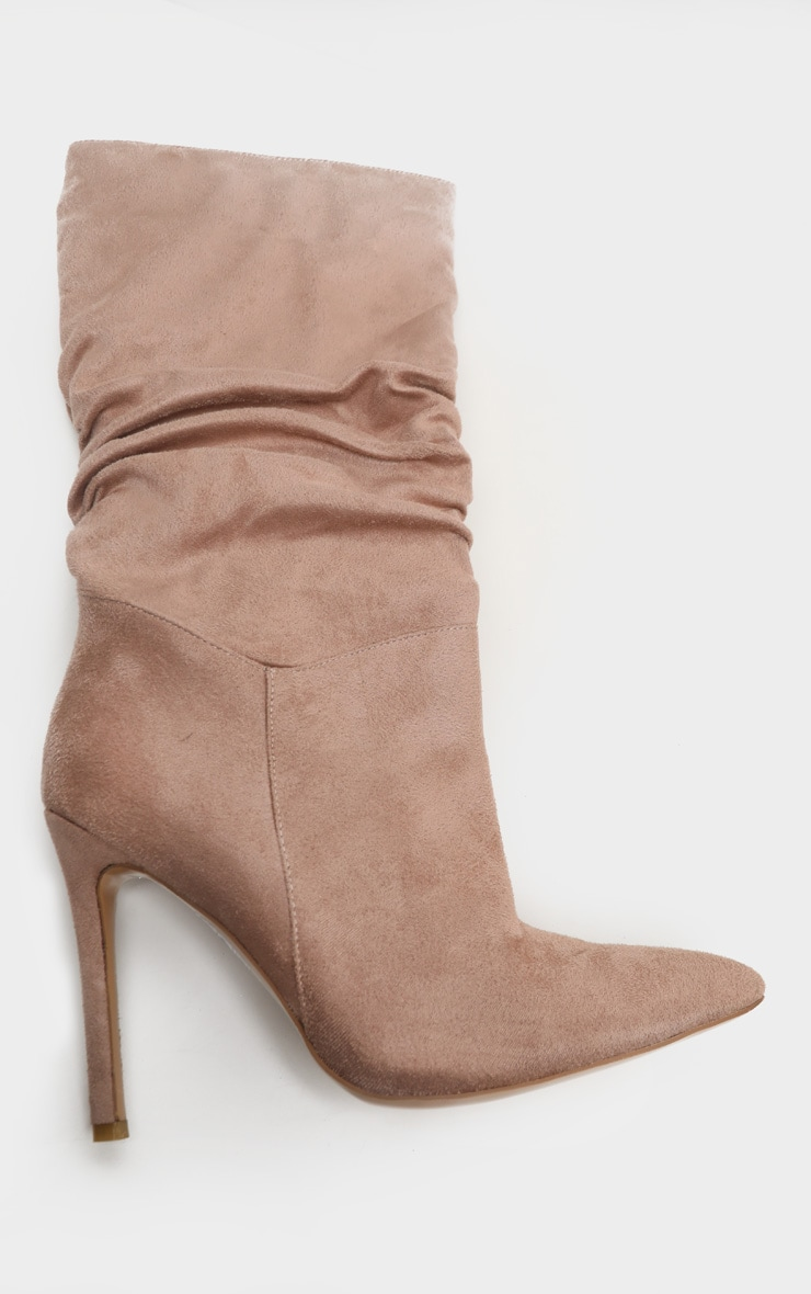 Taupe Point Slouch Calf Boot 3