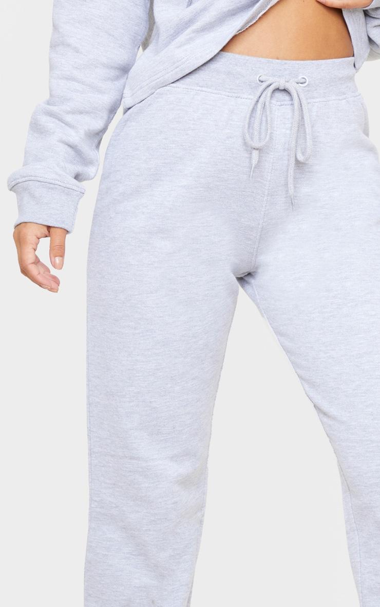 Petite Grey Marl Straight Leg Jogger  5