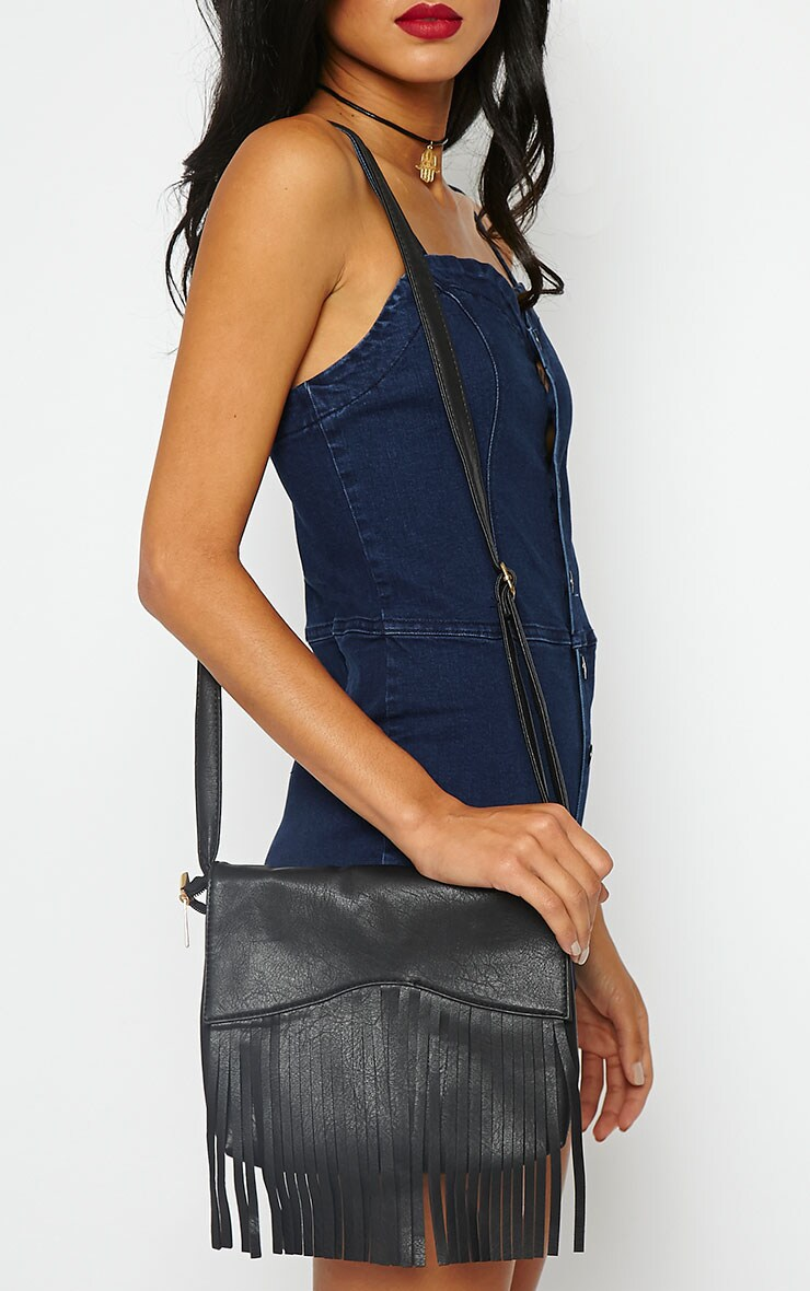 Monna Black Tassel Bag 1