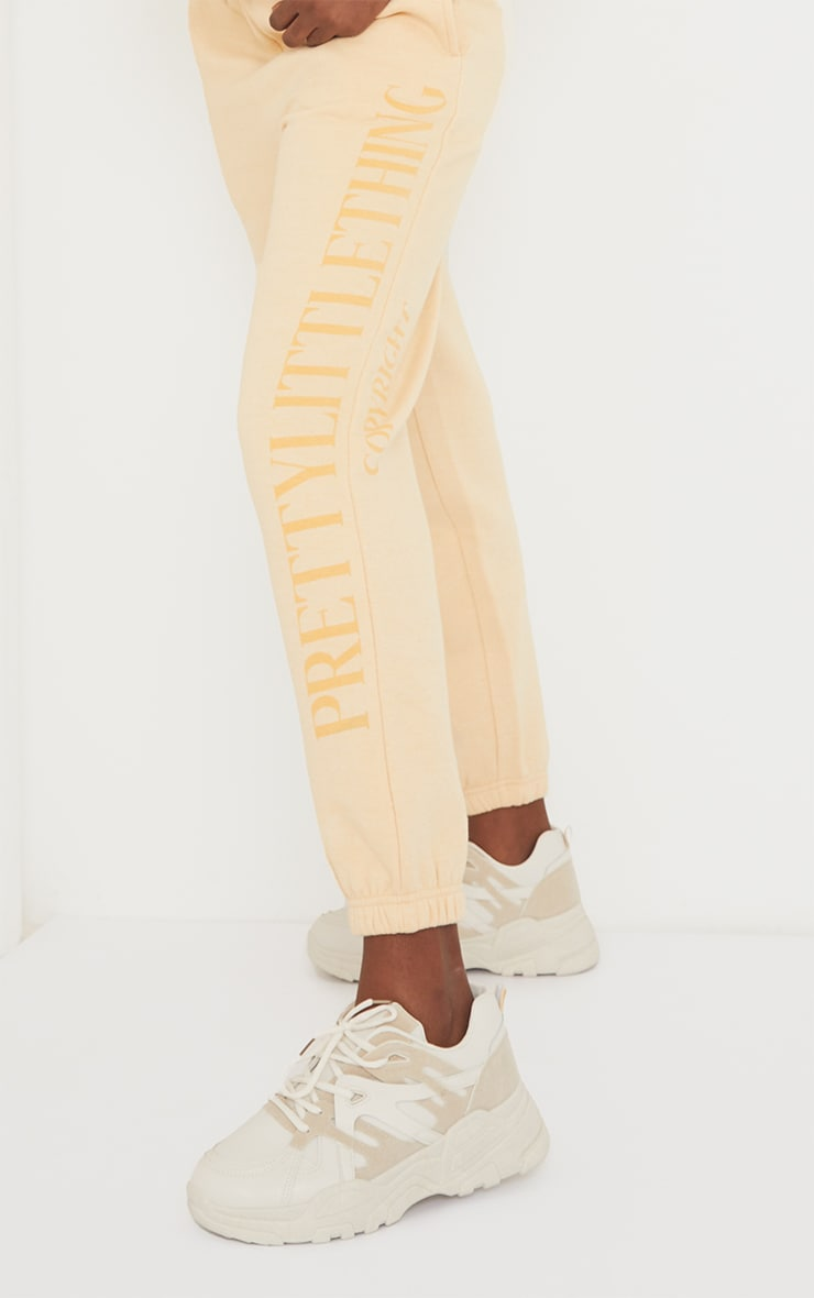 PRETTYLITTLETHING Tall Stone Copyright Joggers 4