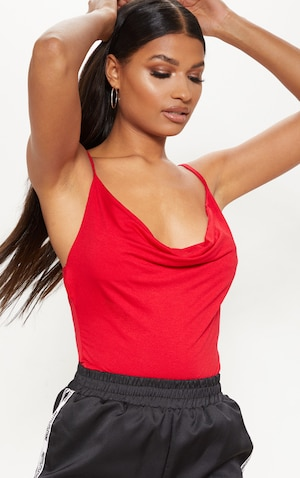 be0fe7238c5e1 The Red Jersey Cowl Neck Cami Top. Head online and shop this ...
