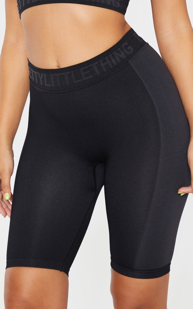 PRETTYLITTLETHING Black  Seamless Cycling Short 6