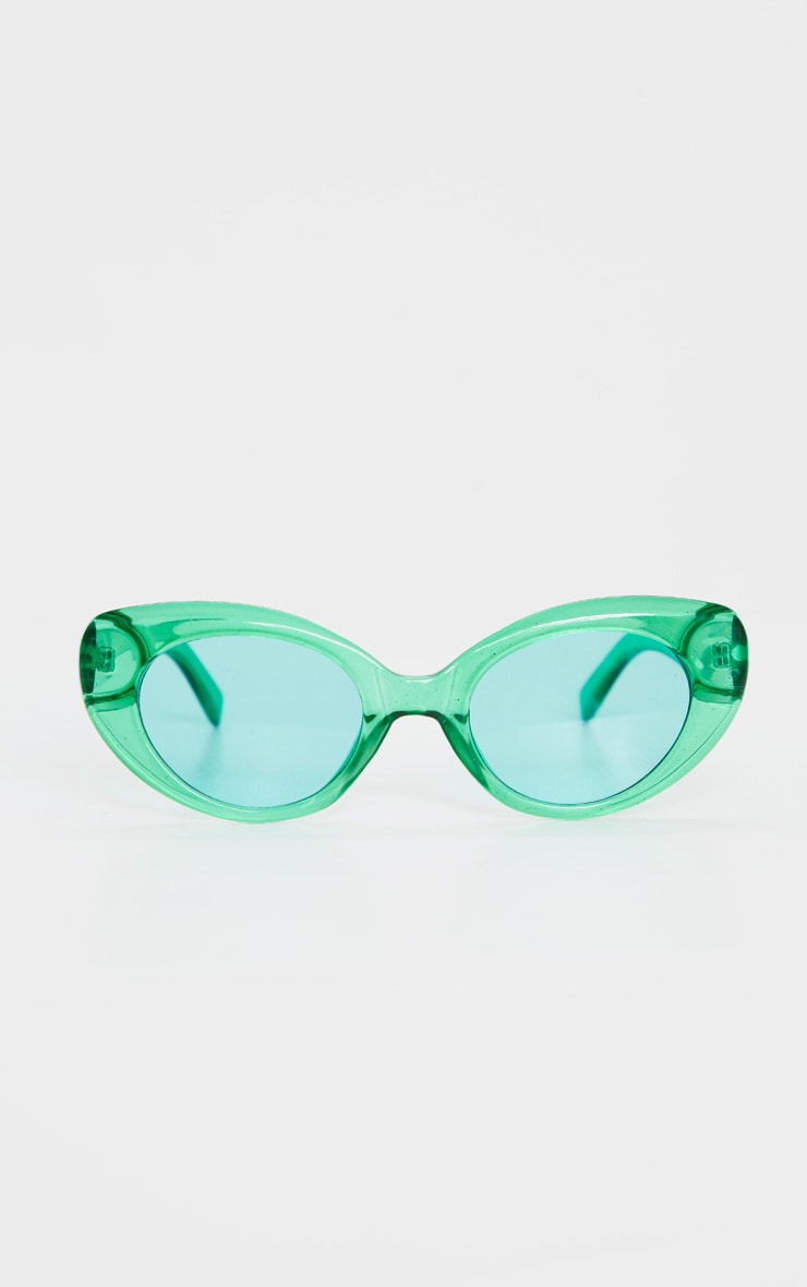 Green Cat Eye Sunglasses 2