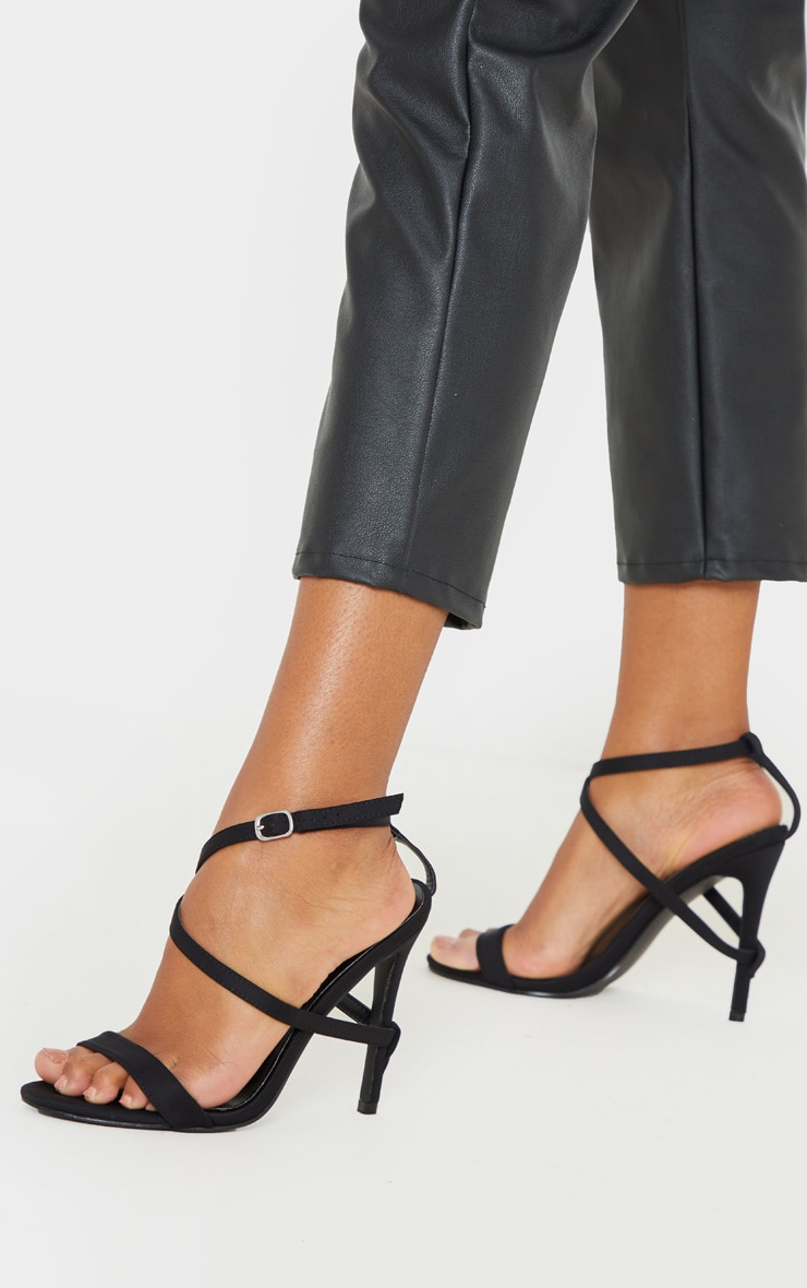 Black Strap Heel Detailed Sandal 2