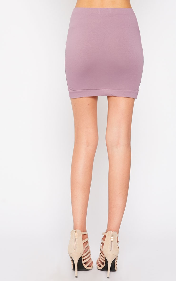Phoenix Mauve Curved Hem Mini Skirt 4