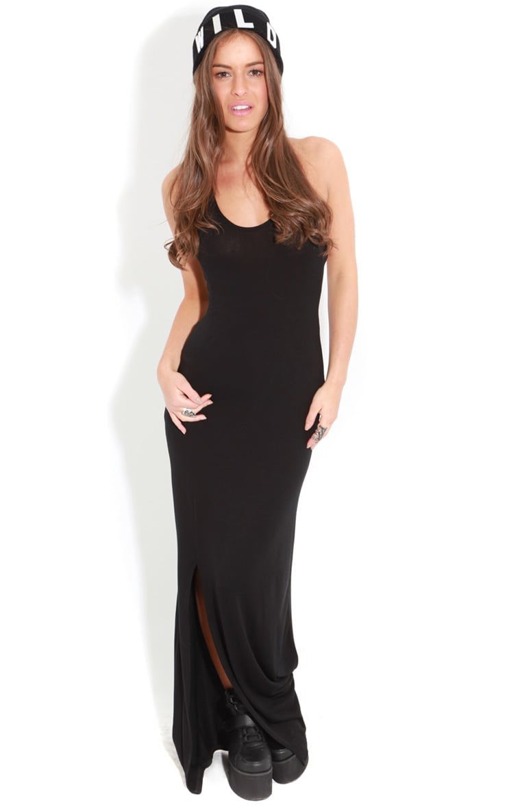 Raya Black Split Strappy Maxi Dress 3