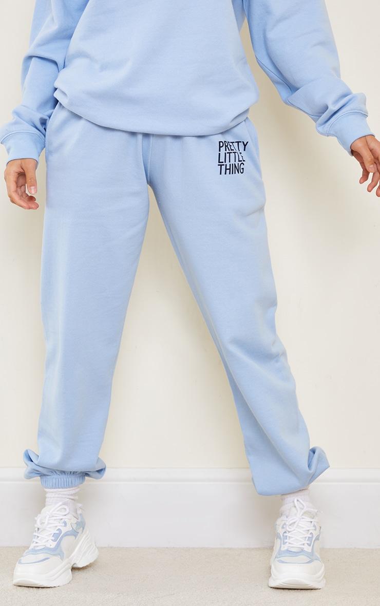 PRETTYLITTLETHING Petite Blue Oversized Joggers 2