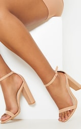 May Nude Patent Block Heeled Sandals 1