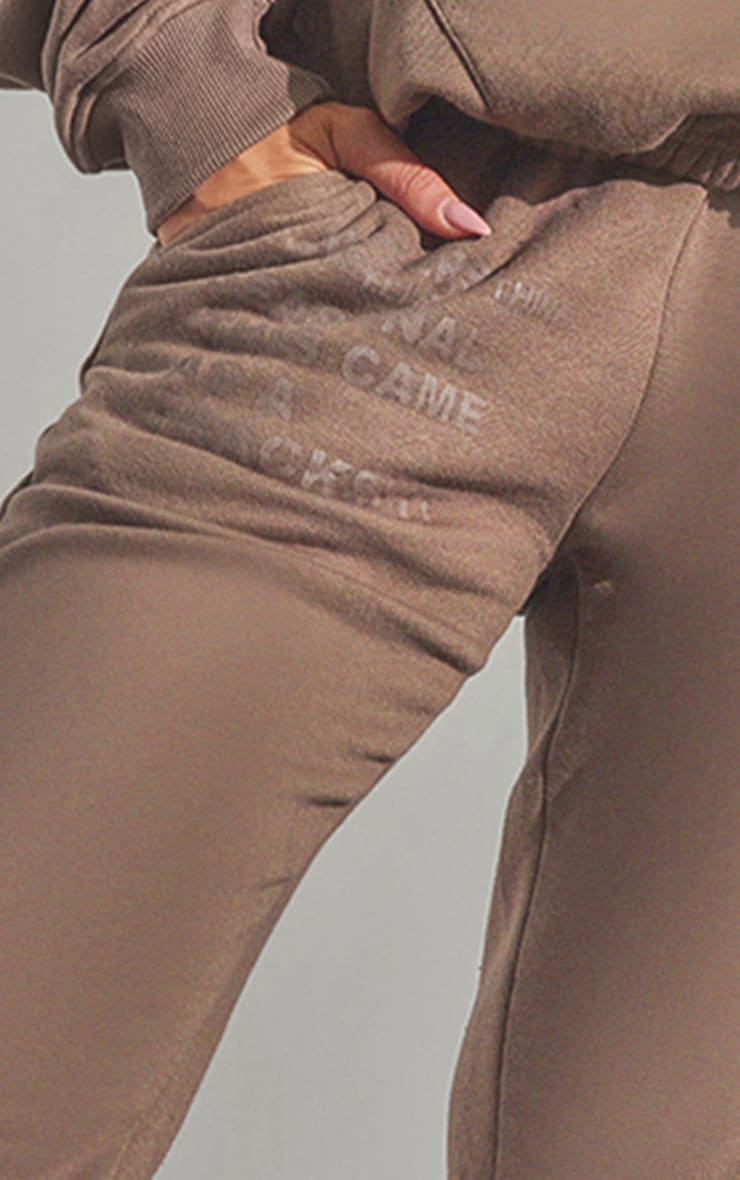 RENEW PRETTYLITTLETHING Chocolate Brown Oversized Cuffed Joggers 4