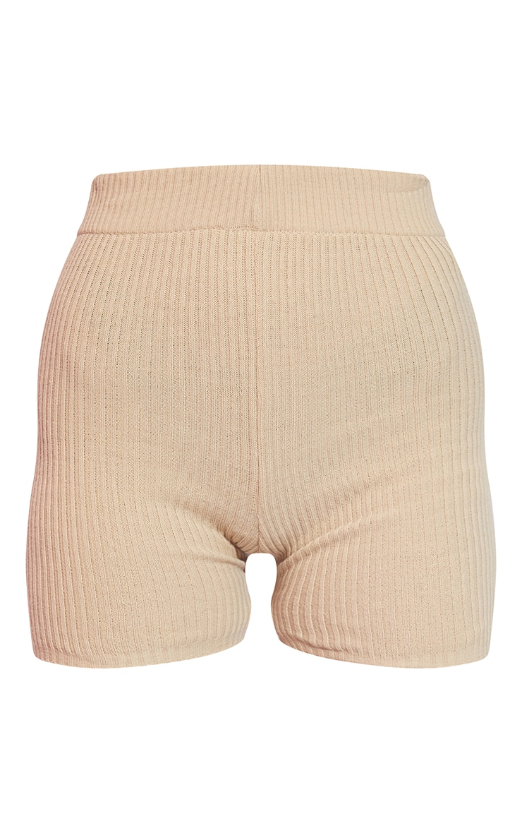 Stone Knitted Ribbed Cycling Short 6