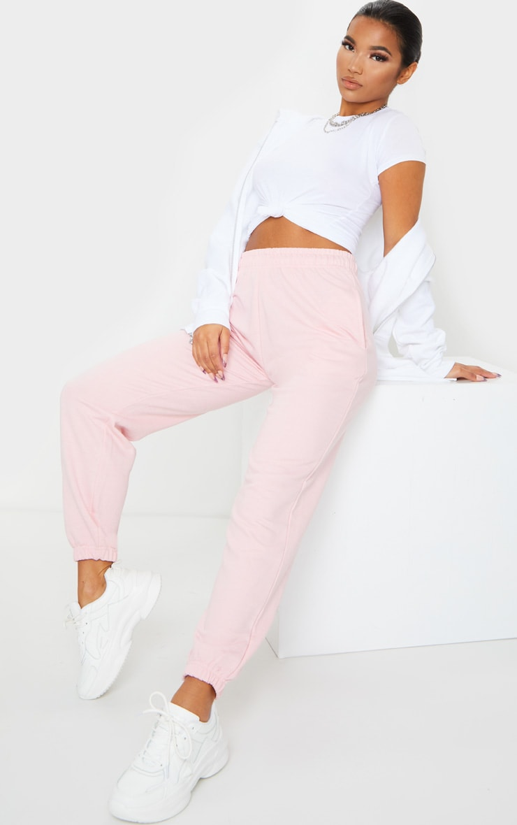 Baby Pink Casual Jogger 1