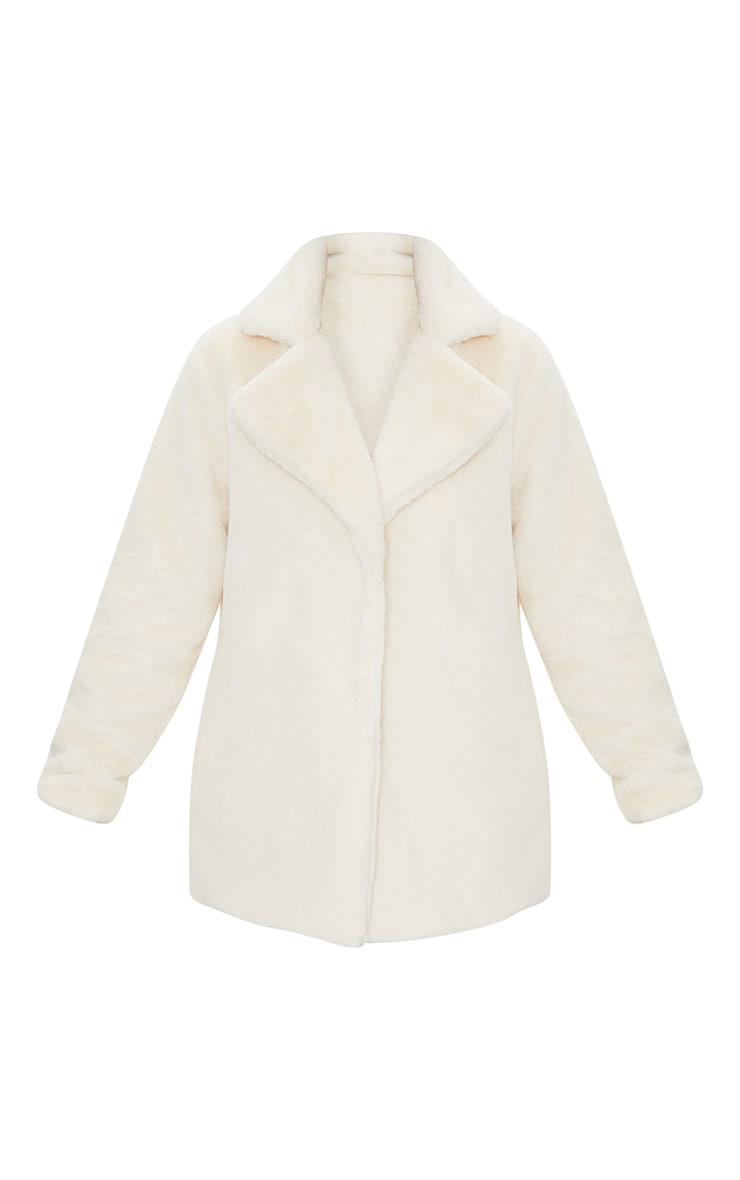 Cream Soft Faux Fur Coat 5