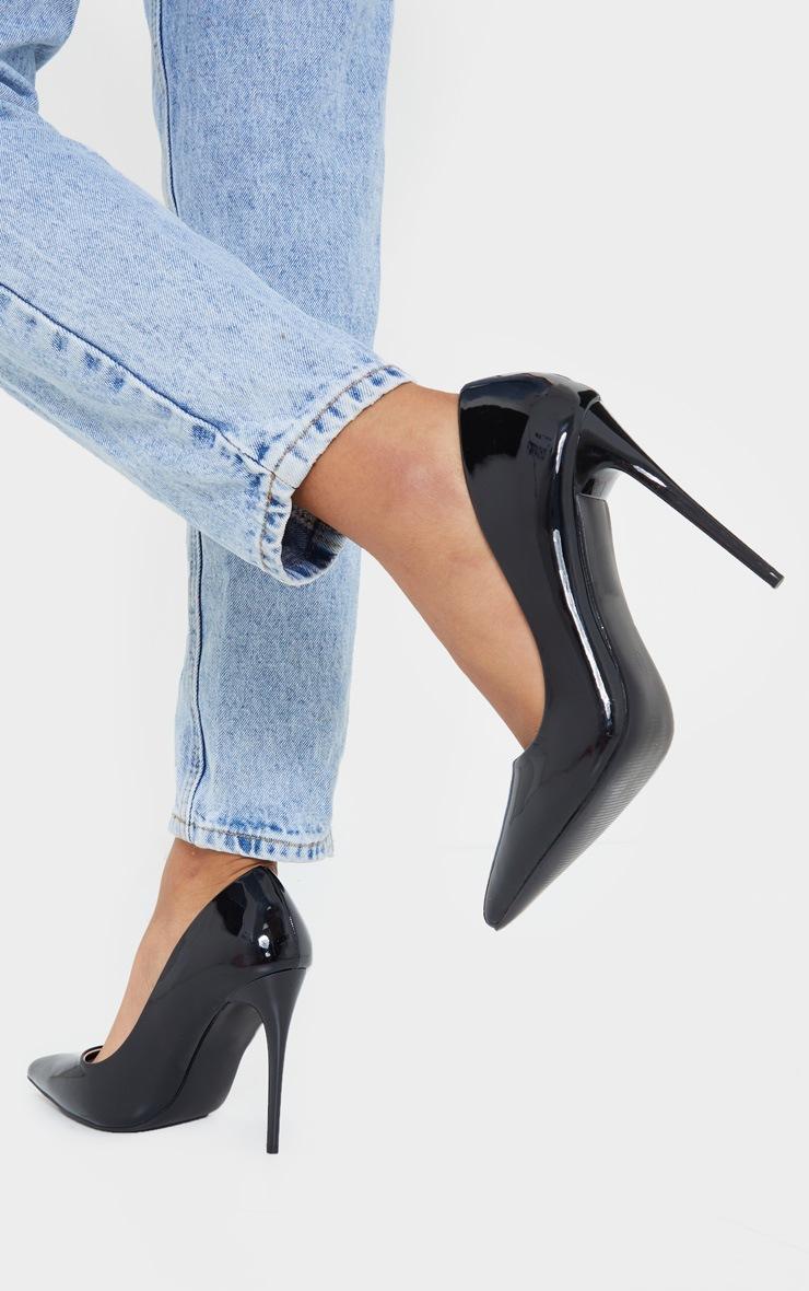 Black Patent PU High Court Heel Shoes 2