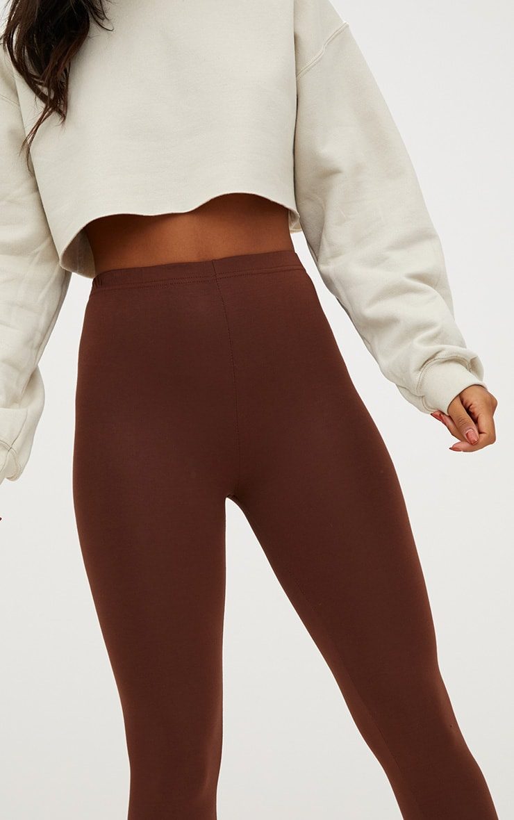 Basic Brown and Burgundy Jersey Leggings 2 Pack 7