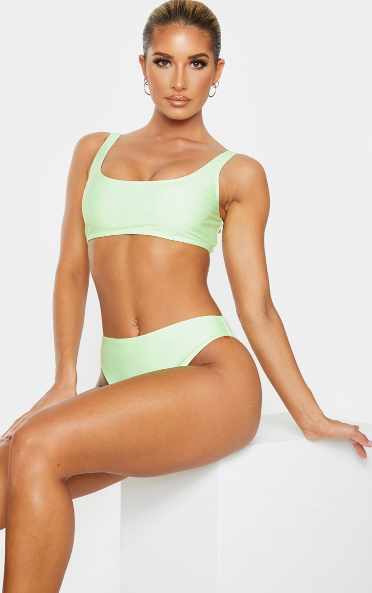 Mint Mix & Match Square Scoop Neck Bikini Top 1