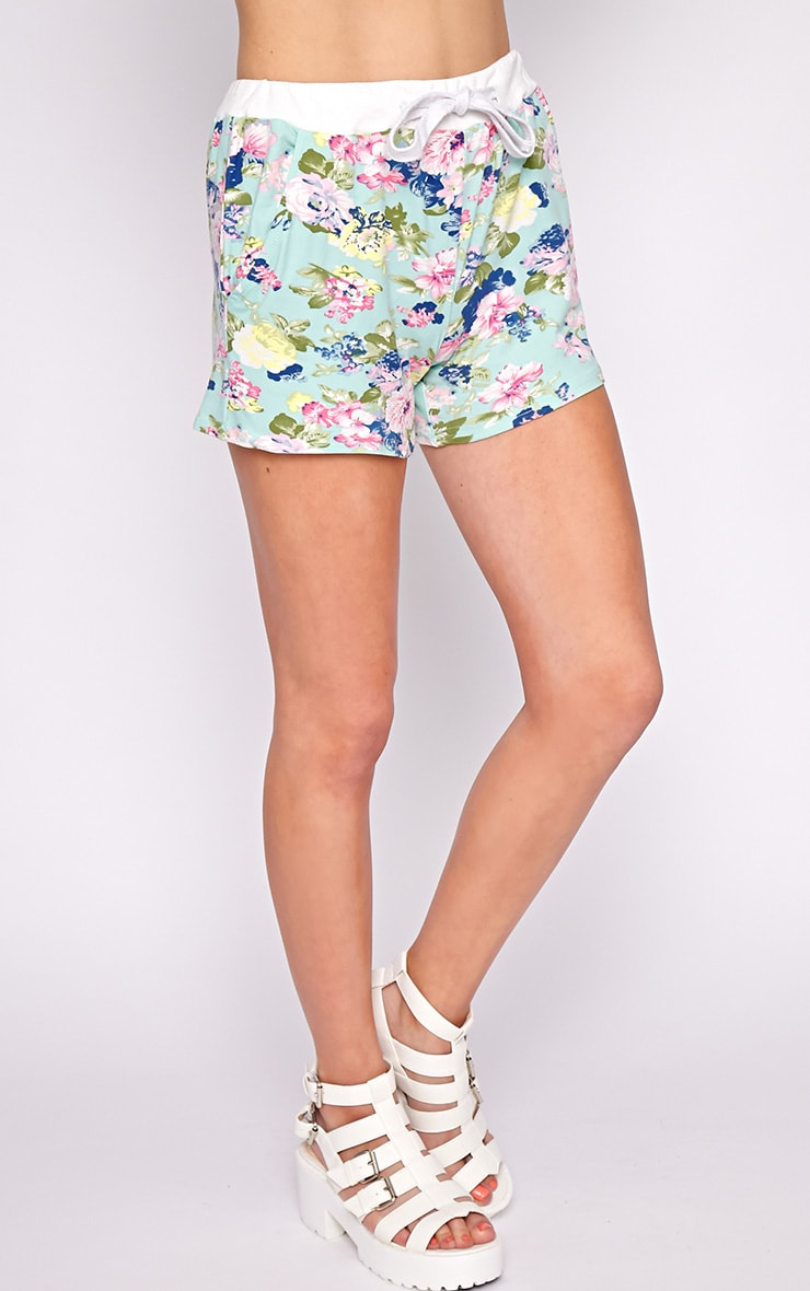 Hollie Mint Floral Short  4