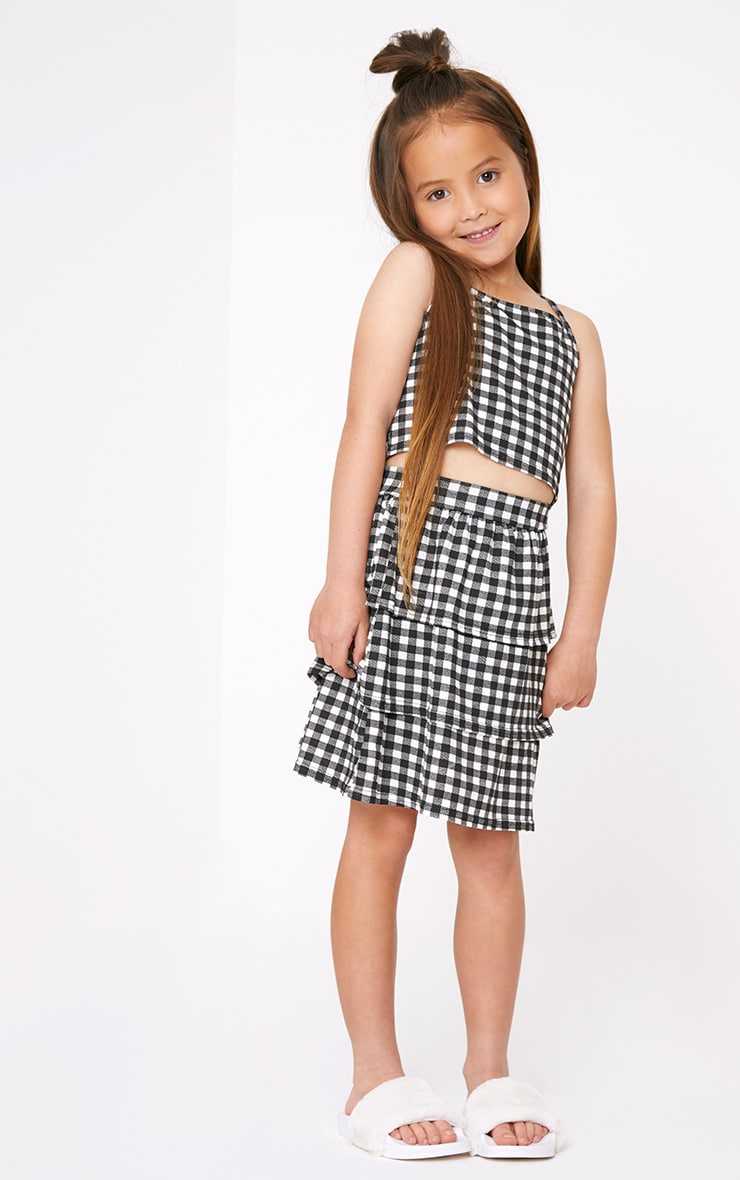 Gingham Black Crop Top  4