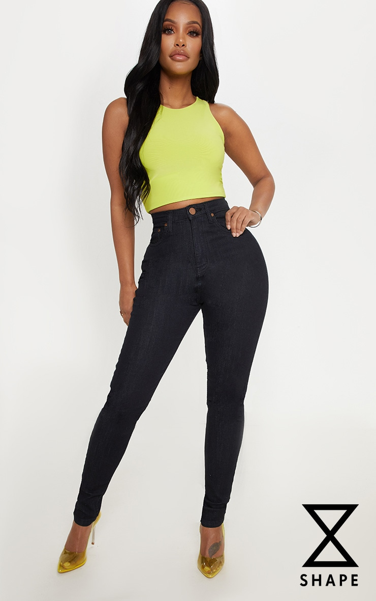 Shape - Jean skinny noir taille haute
