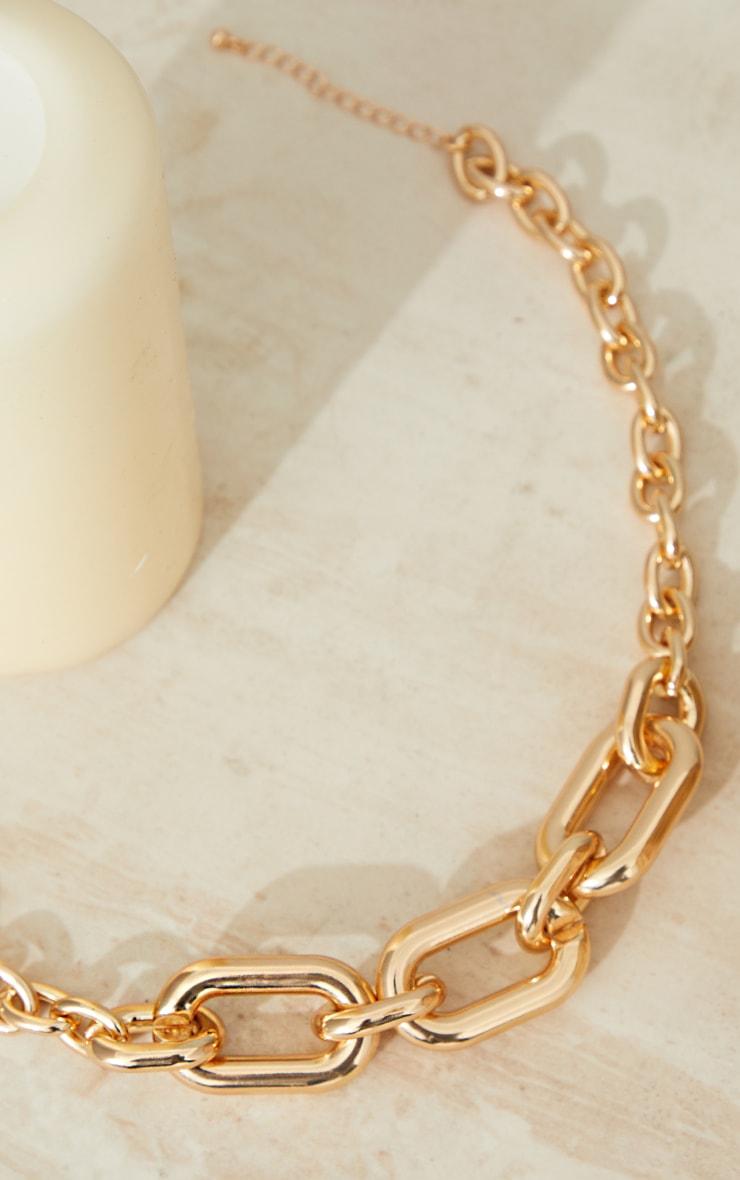 Collier chaîne doré à maillons arrondis variés 4