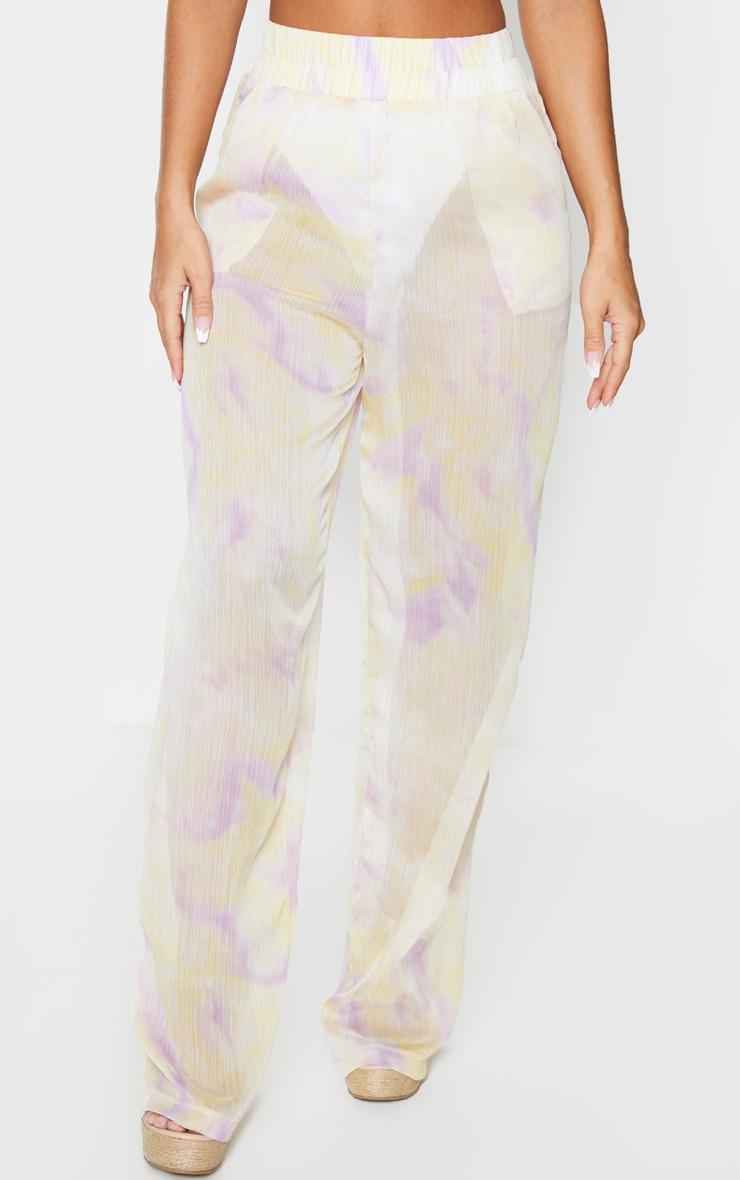 Lilac Tie Dye Wide Leg Beach Pants 2