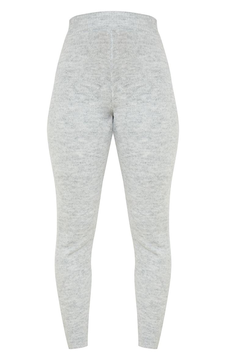 Light Grey Cosy Knit Joggers 5