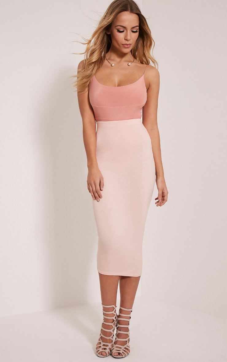 Basic Blush Longline Midi Skirt 1