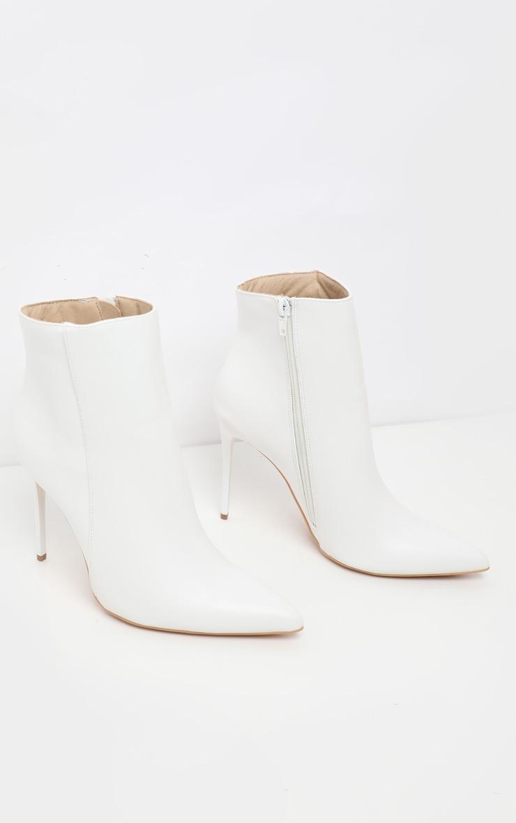 White Point Toe Stiletto Heel Ankle Boot 3