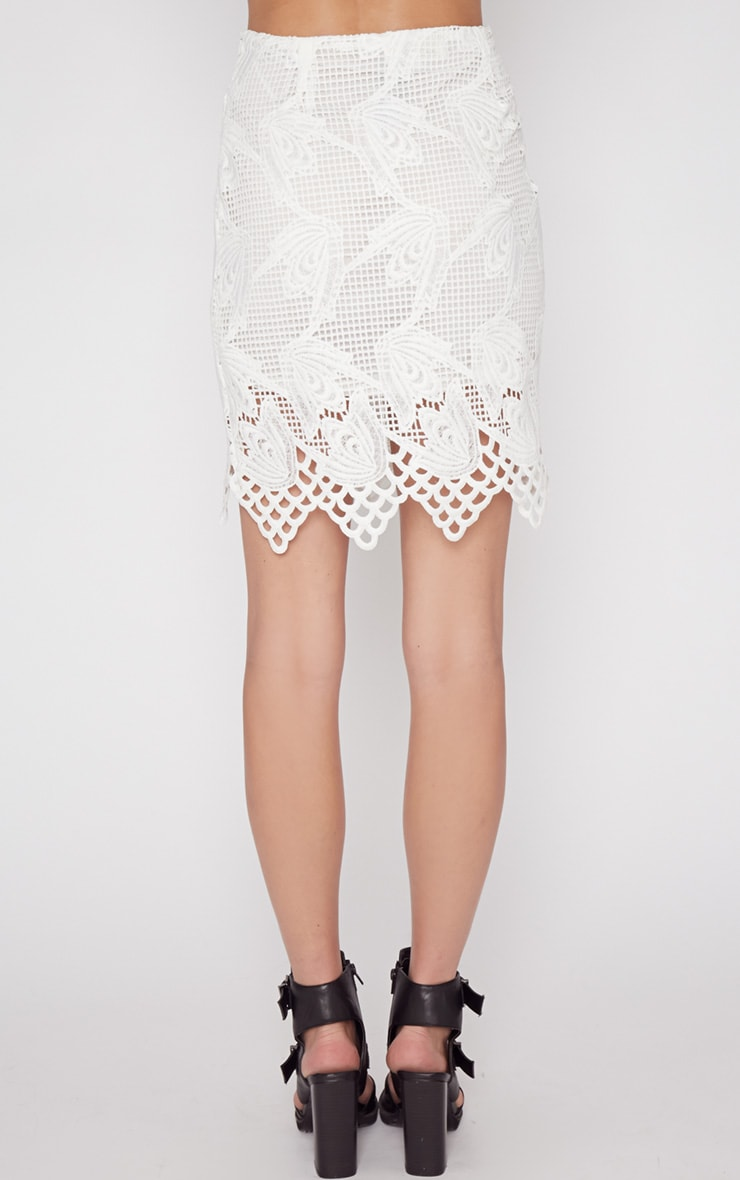 Carla White Lace Skirt  2