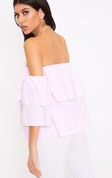 d9097009523e0a Kaarina Pink Stripe Bardot Shirt image 2