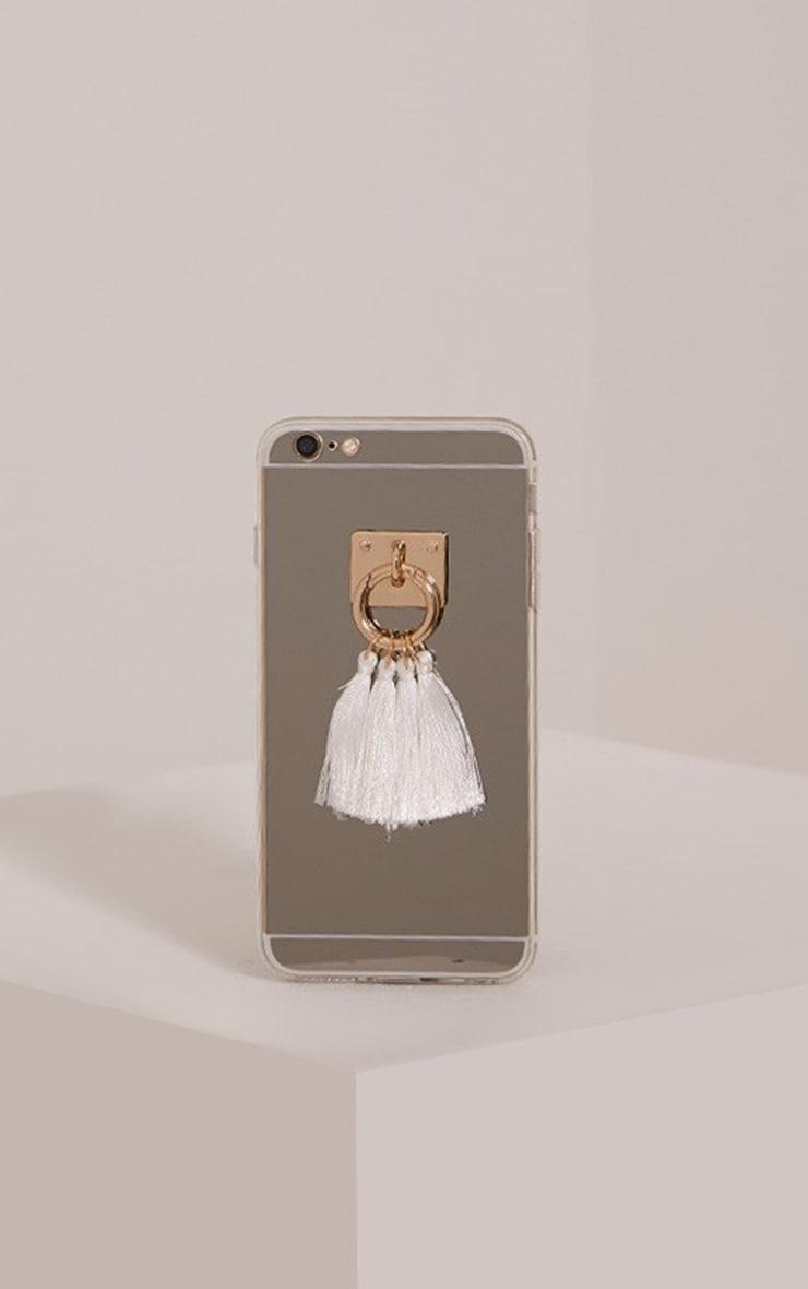 White Iphone 6+ Tassel Detail Phone Case 1