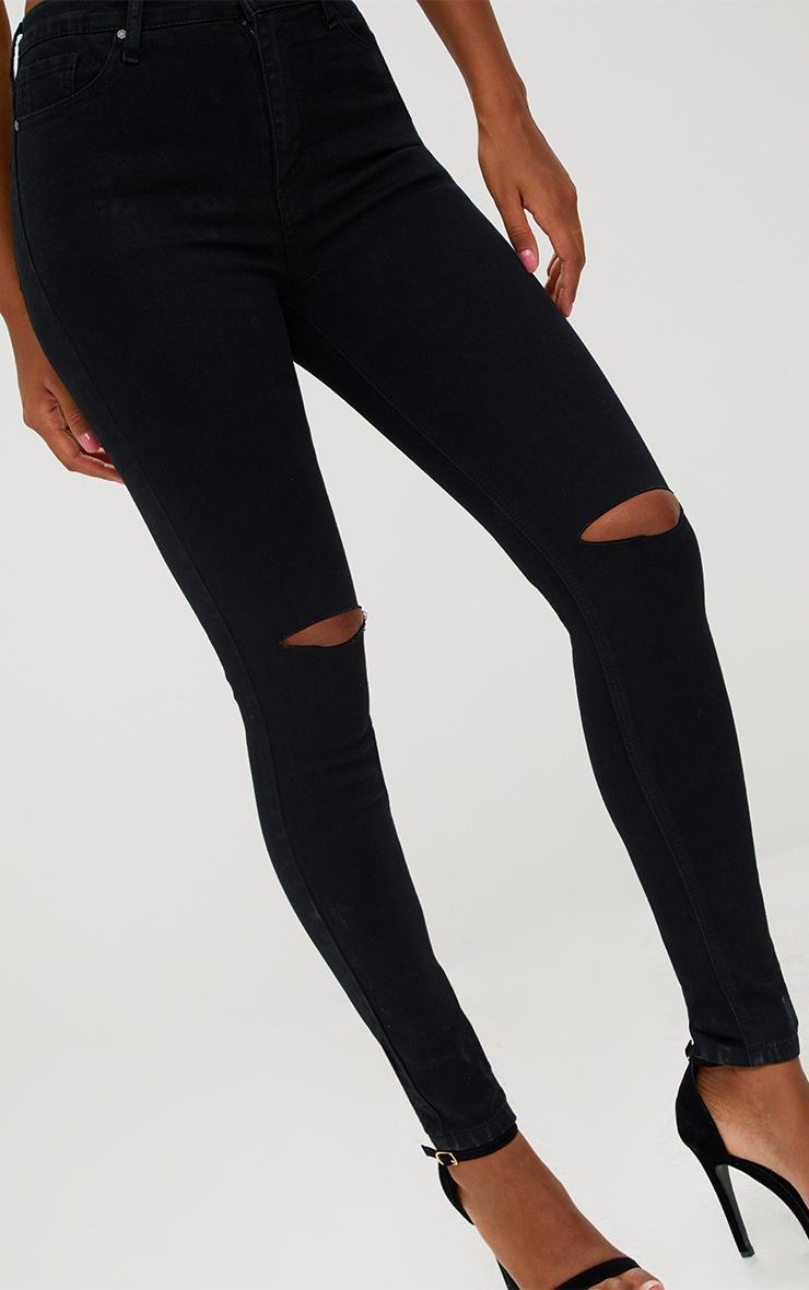 Kat Black Ripped Skinny Jean 5